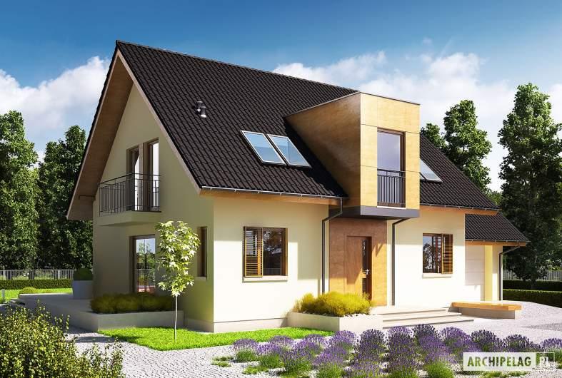 Projekt domu E5 G1 ECONOMIC (wersja A) - wizualizacja frontowa
