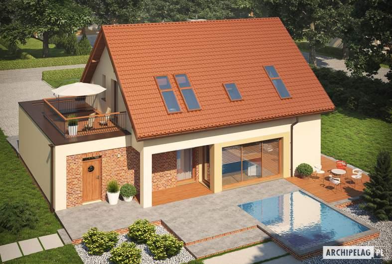 Projekt domu Santiago II G1 ENERGO - widok z góry