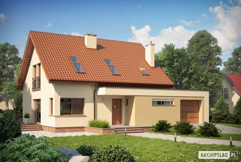 Projekt domu Santiago II G1 ENERGO - wizualizacja frontowa