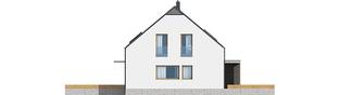 Projekt domu E8 (z wiatą) ENERGO PLUS - elewacja prawa