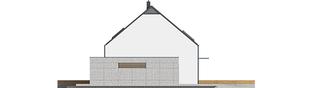 Projekt domu E8 (z wiatą) ENERGO PLUS - elewacja lewa