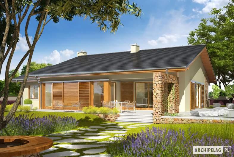 Projekt domu Bob II G1 - wizualizacja ogrodowa