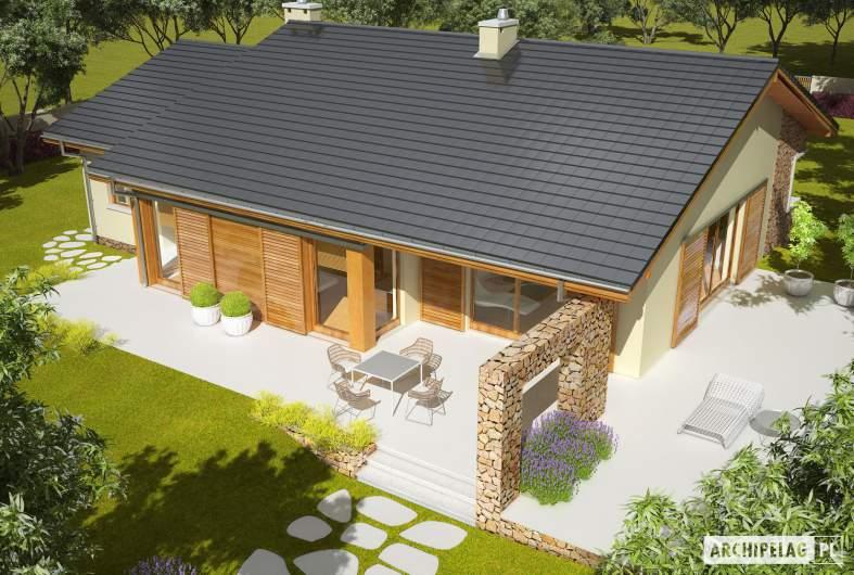 Projekt domu Bob II G1 - widok z góry
