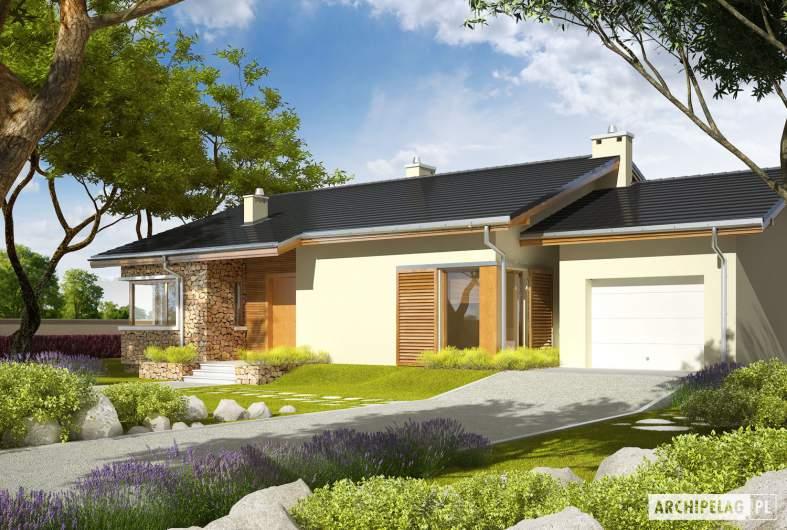 Projekt domu Bob II G1 - wizualizacja frontowa