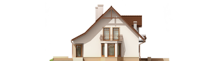 Projekt domu Blanka G1 Mocca - elewacja lewa