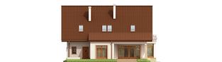 Projekt domu Blanka G1 Mocca - elewacja tylna