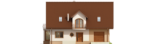 Projekt domu Blanka G1 Mocca - elewacja frontowa