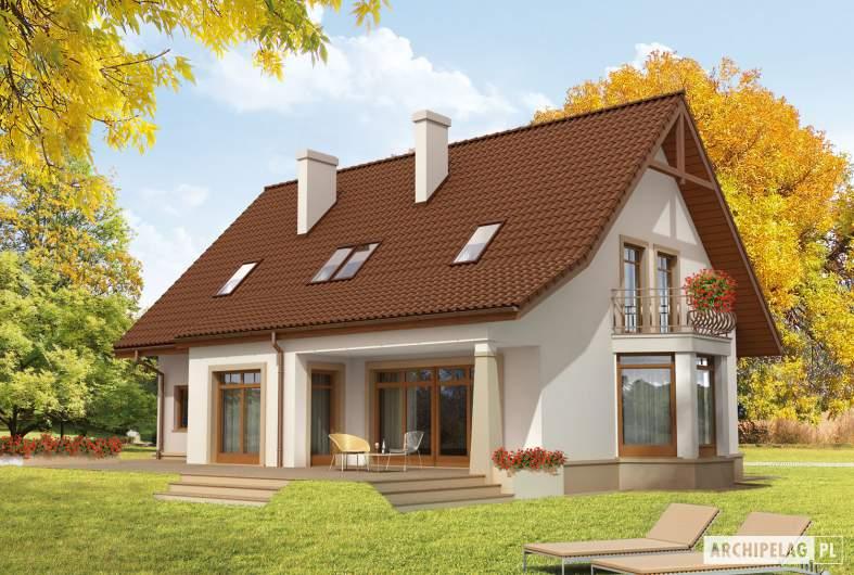 Projekt domu Blanka G1 Mocca - Projekty domów ARCHIPELAG - Blanka G1 Mocca - wizualizacja ogrodowa