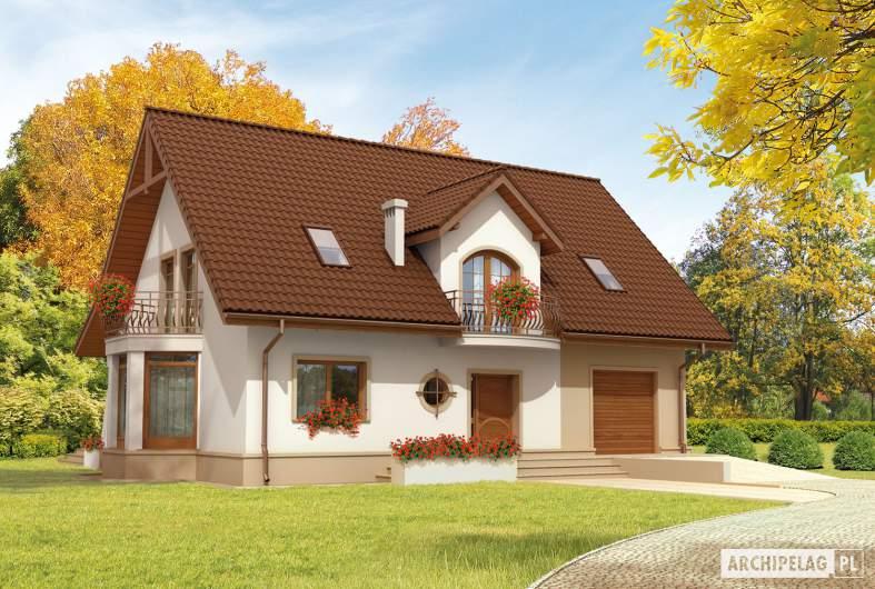 Projekt domu Blanka G1 Mocca - Projekty domów ARCHIPELAG - Blanka G1 Mocca - wizualizacja frontowa