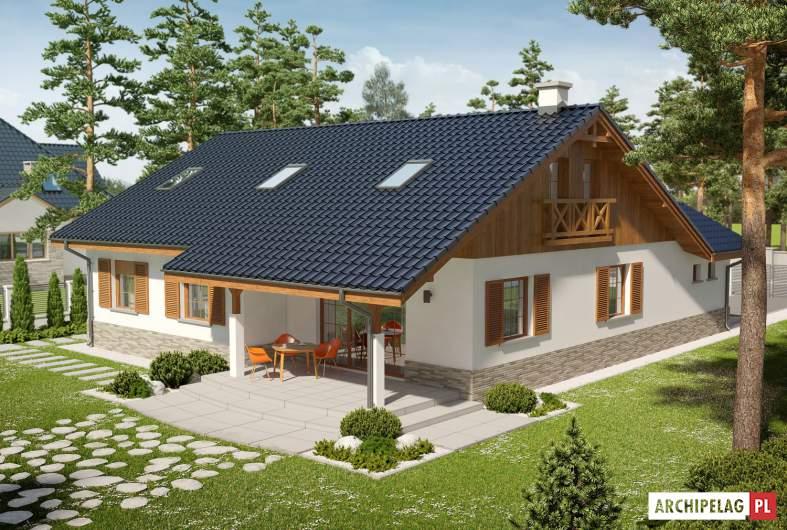 Projekt domu Rózia G1 ENERGO PLUS - widok z góry