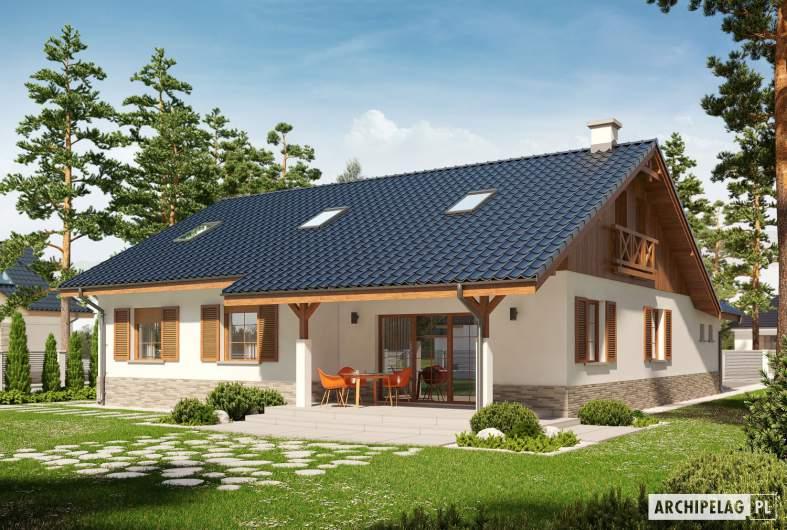 Projekt domu Rózia G1 ENERGO PLUS - wizualizacja ogrodowa