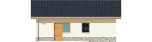 Projekt domu Garaż G29 - elewacja tylna