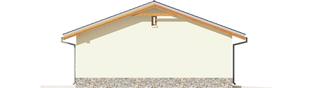 Projekt domu Garaż G29 - elewacja lewa