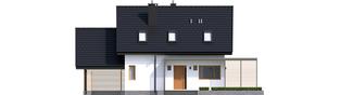Projekt domu Lea II (z wiatą) - elewacja frontowa