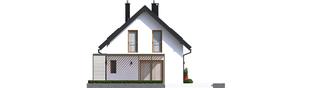 Projekt domu Lea II (z wiatą) - elewacja prawa