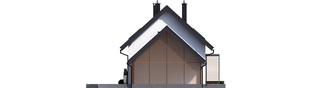 Projekt domu Lea II (z wiatą) - elewacja lewa