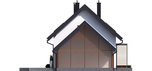 Lea G1 - Projekty domów ARCHIPELAG - Lea II (z wiatą) - elewacja lewa