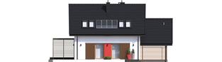 Projekt domu Lea II (z wiatą) - elewacja tylna