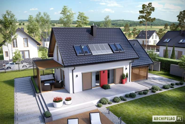 Projekt domu Lea II (z wiatą) - Projekty domów ARCHIPELAG - Lea II (z wiatą) - widok z góry