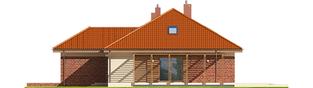 Projekt domu Astrid (mała) G1 - elewacja prawa