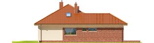 Projekt domu Astrid (mała) G1 - elewacja lewa