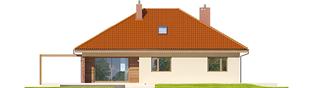 Projekt domu Astrid (mała) G1 - elewacja tylna
