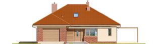 Projekt domu Astrid (mała) G1 - elewacja frontowa