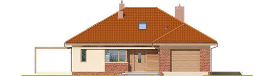 Astrid M G1 - Projekt domu Astrid (mała) G1 - elewacja frontowa