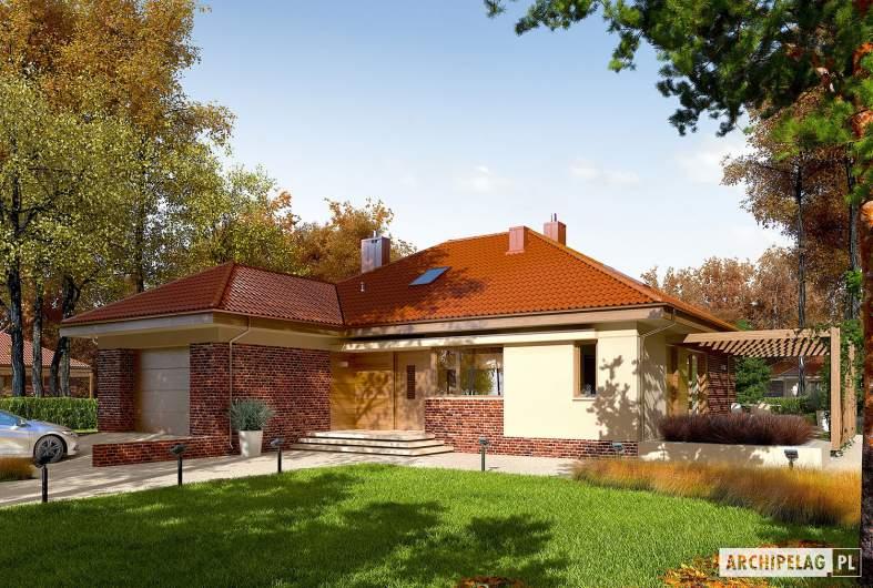 Projekt domu Astrid (mała) G1 - wizualizacja frontowa