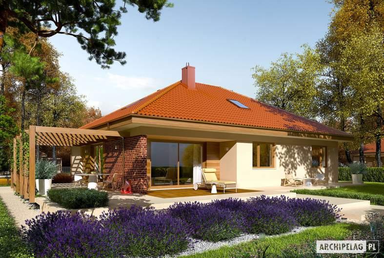 Projekt domu Astrid (mała) G1 - wizualizacja ogrodowa
