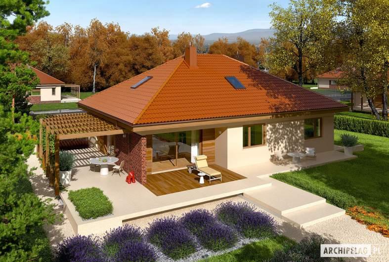 Projekt domu Astrid (mała) G1 - widok z góry