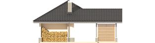 Projekt domu Garaż G25 w. II - elewacja tylna