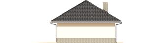 Projekt domu Garaż G25 w. II - elewacja prawa