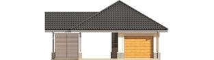 Projekt domu Garaż G25 w. II - elewacja frontowa