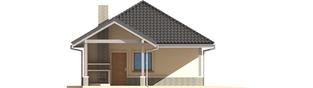 Projekt domu Garaż G25 w. II - elewacja lewa