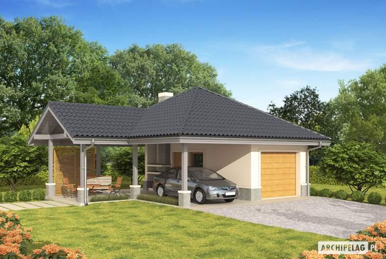 Projekt domu Garaż G25 w. II - Projekt garażu G25 (w. II) - wizualizacja frontowa