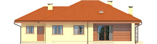 Francis II G1 ECONOMIC B - Projekt domu Franczi II G1 ECONOMIC (wersja B) - elewacja tylna