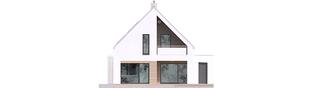 Projekt domu Riko IV G2 ENERGO PLUS - elewacja tylna