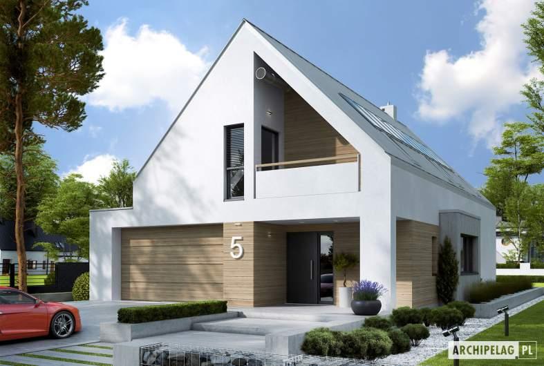 Projekt domu Riko IV G2 ENERGO PLUS - wizualizacja frontowa