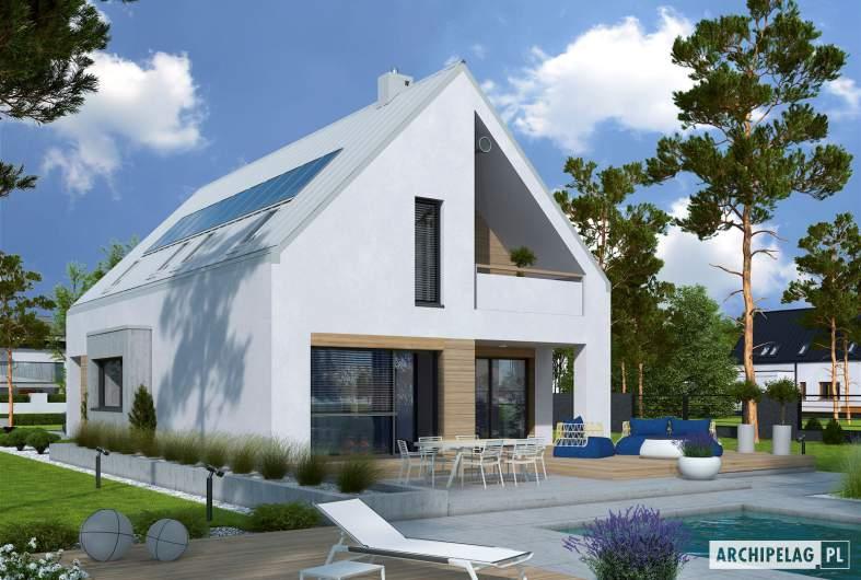Projekt domu Riko IV G2 ENERGO PLUS - wizualizacja ogrodowa