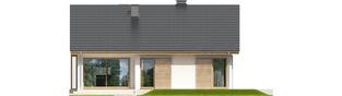 Projekt domu Rafael II - elewacja tylna