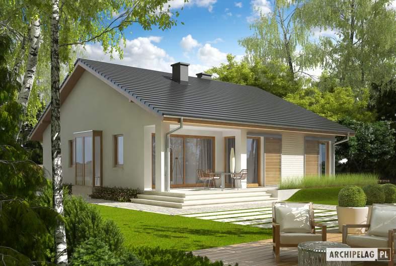 Projekt domu Rafael II - wizualizacja ogrodowa