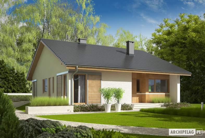Projekt domu Rafael II - wizualizacja frontowa