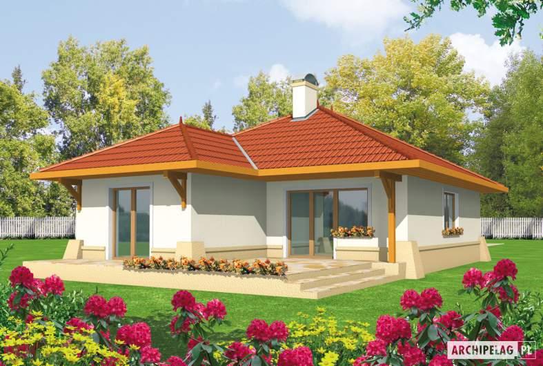 Projekt domu Lora G1 - wizualizacja ogrodowa