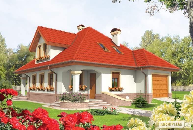 Projekt domu Aja G1 - wizualizacja frontowa