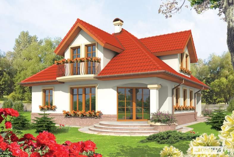 Projekt domu Aja G1 - wizualizacja ogrodowa