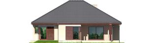 Projekt domu Dylan G2 - elewacja tylna