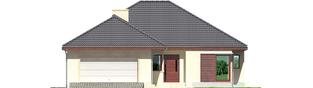 Projekt domu Dylan G2 - elewacja frontowa