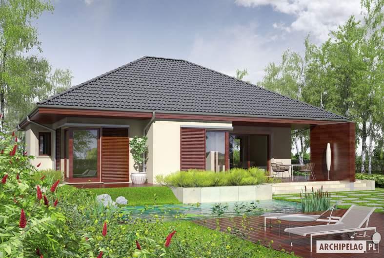 Projekt domu Dylan G2 - wizualizacja ogrodowa