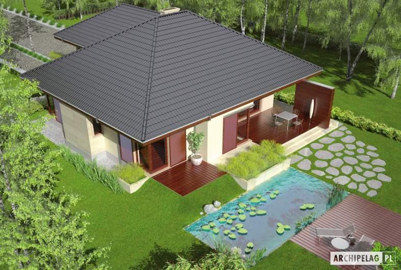 Projekt domu Dylan G2 - widok z góry